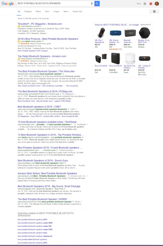 bluetooth speakers ranking screenshot