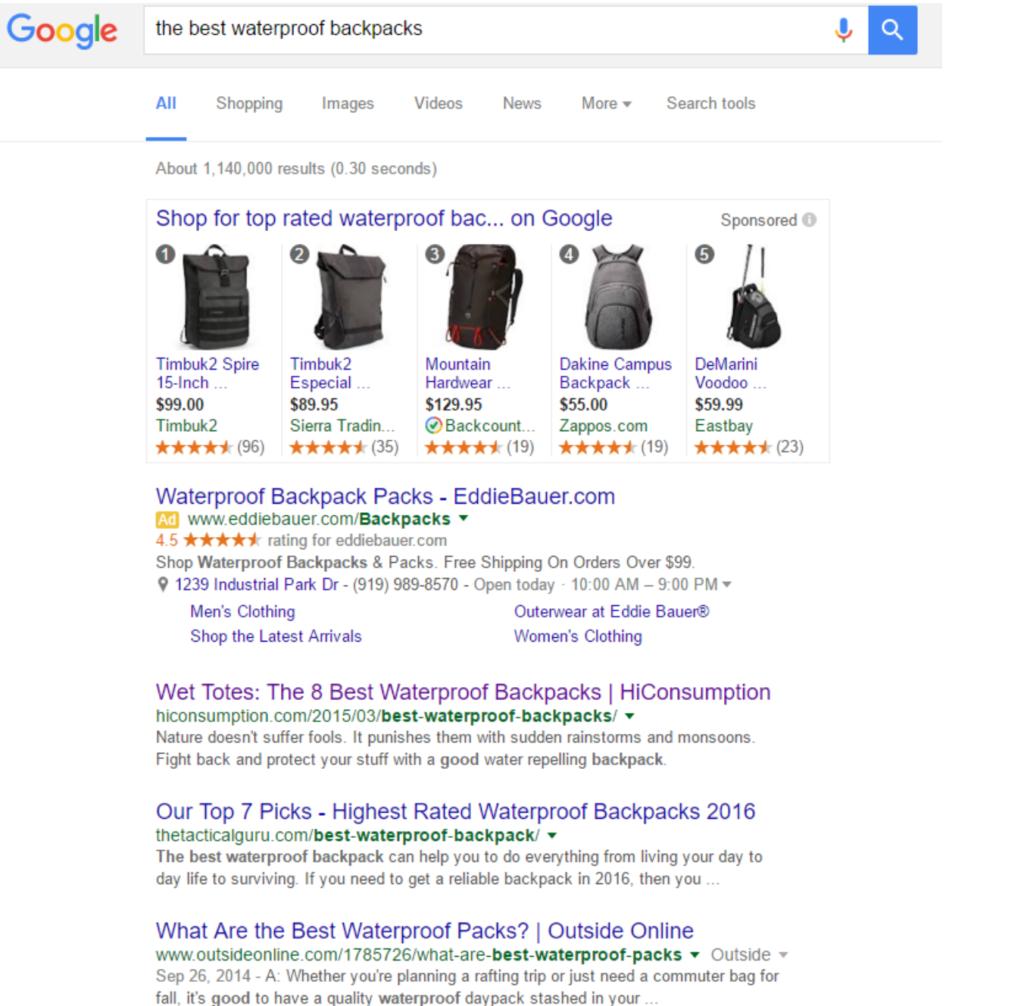 best waterproof backpacks screenshot